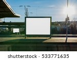 train station billboard blank... | Shutterstock . vector #533771635