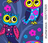 vector seamless pattern with... | Shutterstock .eps vector #533772505