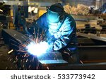 welders working at the factory... | Shutterstock . vector #533773942