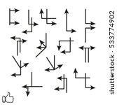 arrow pointer icon  vector... | Shutterstock .eps vector #533774902