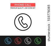 vector phone call icon. premium ...
