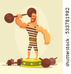 athlete strong man character... | Shutterstock .eps vector #533781982