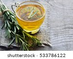 rosemary herbal tea in a glass... | Shutterstock . vector #533786122