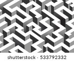 black and white maze  labyrinth ... | Shutterstock .eps vector #533792332