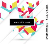 geometric background template... | Shutterstock .eps vector #533795386