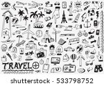 travel doodles sketch icons | Shutterstock .eps vector #533798752