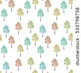 seamless floral pattern with... | Shutterstock . vector #533798758