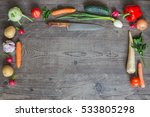 fresh organic vegetables on... | Shutterstock . vector #533805298
