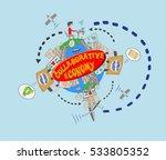 world collaborative economy... | Shutterstock .eps vector #533805352