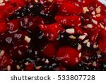 berry cake with strawberry ... | Shutterstock . vector #533807728