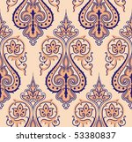 seamless colorful damask... | Shutterstock .eps vector #53380837