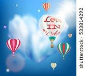 romantic heart shaped air... | Shutterstock .eps vector #533814292