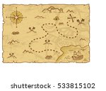 Illustration Of A Pirate Map...