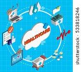 illustration of info graphic... | Shutterstock .eps vector #533818246