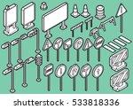 illustration of info graphic... | Shutterstock .eps vector #533818336