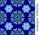 mandalas background. blue ... | Shutterstock .eps vector #533819962