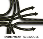 stylized road junction. highway ... | Shutterstock .eps vector #533820016