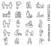 family  icons set. baby care ... | Shutterstock .eps vector #533822722