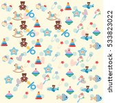 seamless baby  background with... | Shutterstock .eps vector #533823022