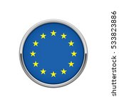 round silver badge with... | Shutterstock .eps vector #533823886