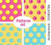 patterns set. pattern with half ... | Shutterstock .eps vector #533824786