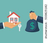 buying house. agent of real... | Shutterstock .eps vector #533825182
