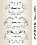 set of vintage frameworks 1  | Shutterstock .eps vector #53382598