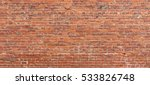 Old Red Brick Wall Wide Rough...