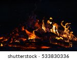 texture flame from burning logs ... | Shutterstock . vector #533830336
