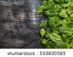 Bunch Of Fresh Spinach Leaves...