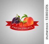 fresh fruits background. vector ... | Shutterstock .eps vector #533831056