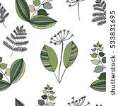 scandinavian vector floral... | Shutterstock .eps vector #533831695
