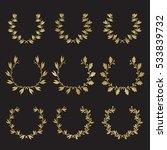 silhouette laurel and oak...   Shutterstock .eps vector #533839732
