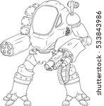 warrior robot vector... | Shutterstock .eps vector #533843986