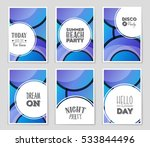 abstract vector layout... | Shutterstock .eps vector #533844496