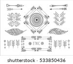 set of creative boho style... | Shutterstock .eps vector #533850436