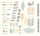 set of creative boho style...