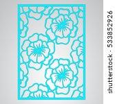 die cut card. laser cut vector... | Shutterstock .eps vector #533852926