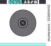 vinyl record vector icon. | Shutterstock .eps vector #533854432