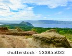 Scenic View Of Taal Volcano ...