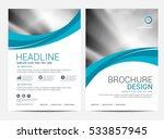 brochure layout design template | Shutterstock .eps vector #533857945