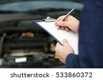 mechanic standing in front of...   Shutterstock . vector #533860372