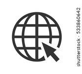 globe web icon flat.... | Shutterstock .eps vector #533860642
