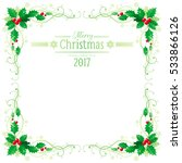 merry christmas and happy new... | Shutterstock .eps vector #533866126