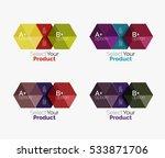 vector set of geometric paper... | Shutterstock .eps vector #533871706