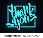 thank you lettering. hand... | Shutterstock .eps vector #533874892