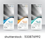 roll up banner stand template... | Shutterstock .eps vector #533876992