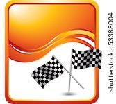 crossed checkered flags orange... | Shutterstock .eps vector #53388004