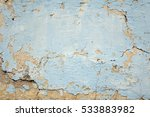 Old White Dirty Plaster Wall...