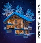 3d rendering section of cozy... | Shutterstock . vector #533888326